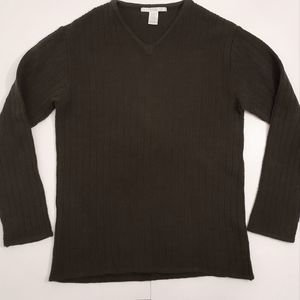 Perry Ellis dark green wool blend sweater size L